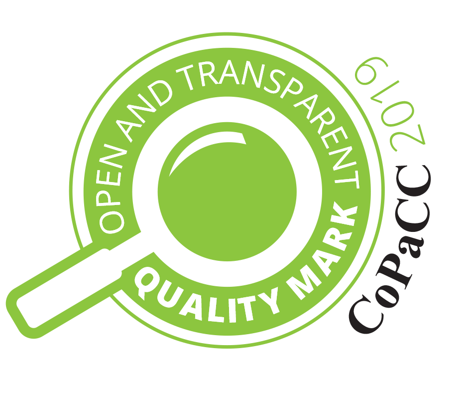 Open and Transparent Quality Mark 2016/17 and 2017/18